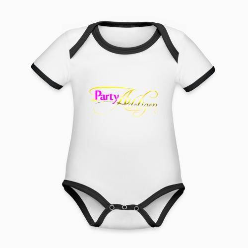 Die PartyAdeligen - Baby Bio-Kurzarm-Kontrastbody