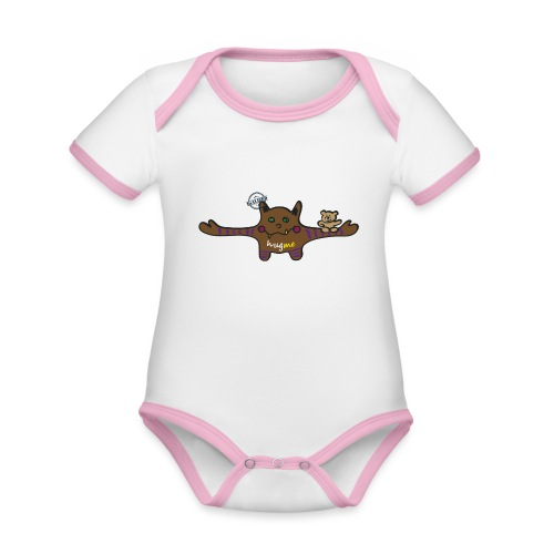 Hug me Monsters - Every little monster needs a hug - Organic Baby Contrasting Bodysuit
