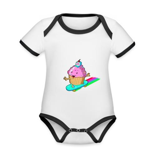 cupskate - Body Bébé bio contrasté manches courtes