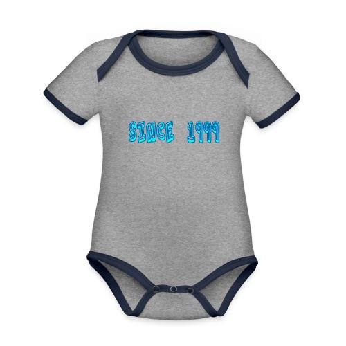 Since 1999 - Vauvan kontrastivärinen, lyhythihainen luomu-body