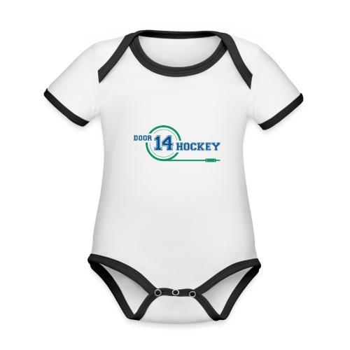 D14 HOCKEY LOGO - Organic Baby Contrasting Bodysuit