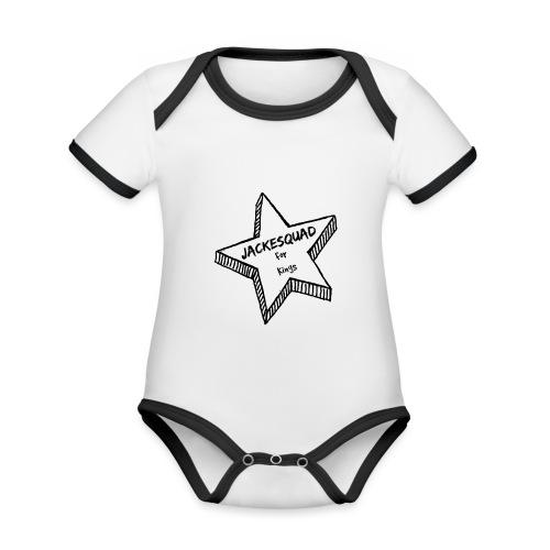 JACKESQUAD - Ekologisk kontrastfärgad kortärmad babybody