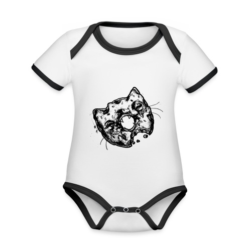 Dona Gato Negro - Body contraste para bebé de tejido orgánico