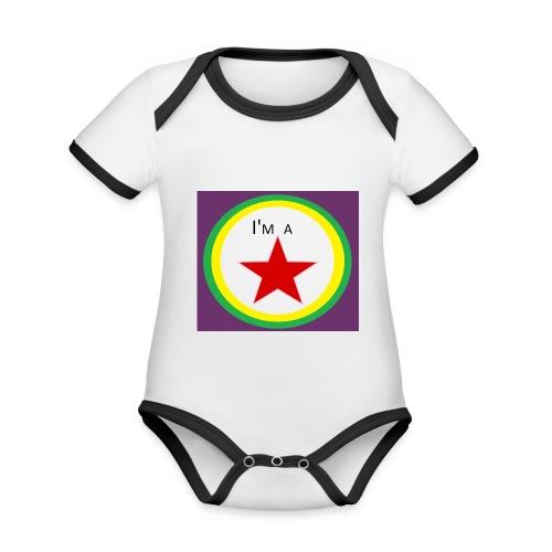 I'm a STAR! - Organic Baby Contrasting Bodysuit