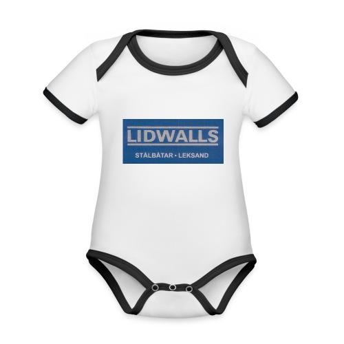 Lidwalls Stålbåtar - Ekologisk kontrastfärgad kortärmad babybody