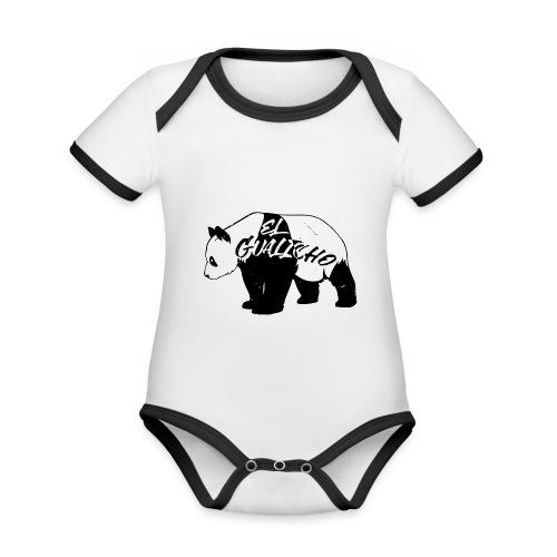 Panda ElGualicho - Body Bébé bio contrasté manches courtes