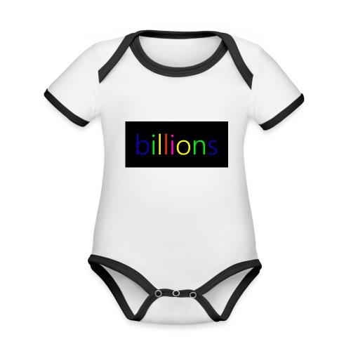 billions - Baby contrasterend bio-rompertje met korte mouwen