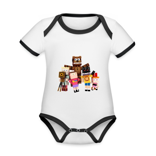 Withered Bonnie Productions - Meet The Gang - Organic Baby Contrasting Bodysuit
