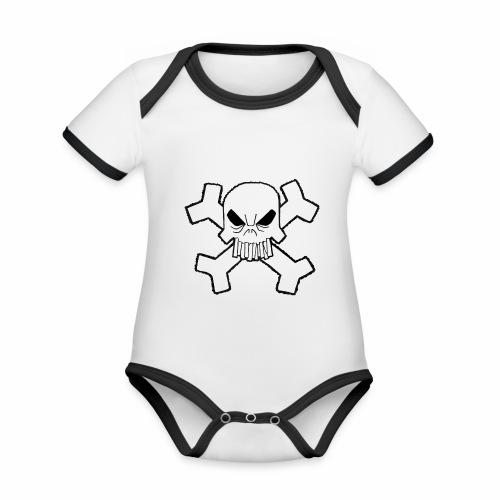 Craneo - Body contraste para bebé de tejido orgánico