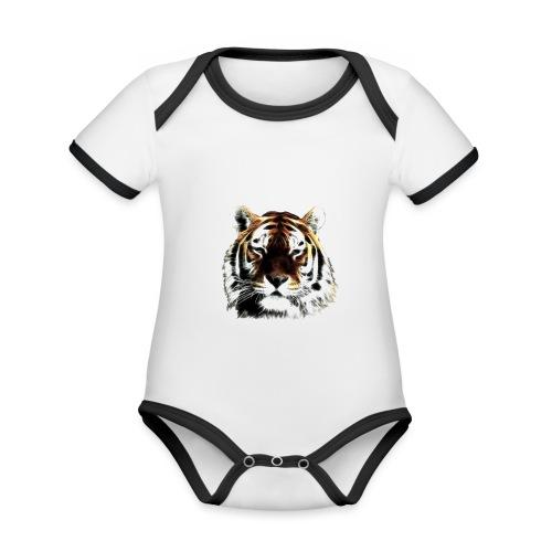 El poderoso tigre. - Body contraste para bebé de tejido orgánico