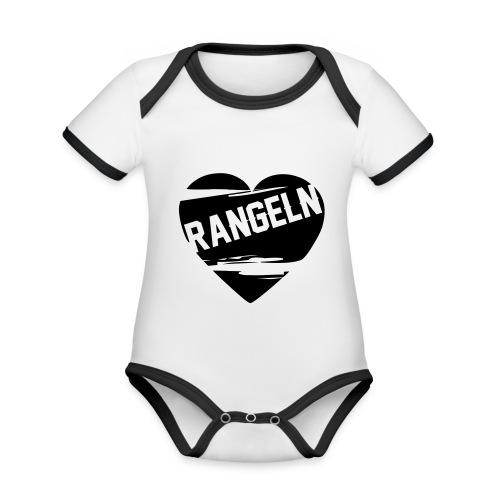 Rangeln ist Liebe - Baby Bio-Kurzarm-Kontrastbody