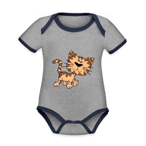 Cat - Baby Bio-Kurzarm-Kontrastbody