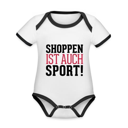 Shoppen ist auch Sport! - Baby Bio-Kurzarm-Kontrastbody