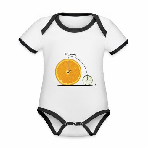 Fruit Bicycle - Organic Baby Contrasting Bodysuit