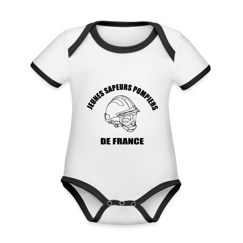 Jeunes Sapeurs Pompiers de France - Body Bébé bio contrasté manches courtes