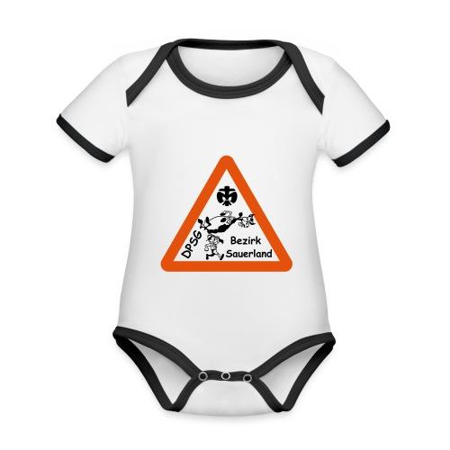 Logo Bezirk Sauerland mit Rahmen - Baby Bio-Kurzarm-Kontrastbody