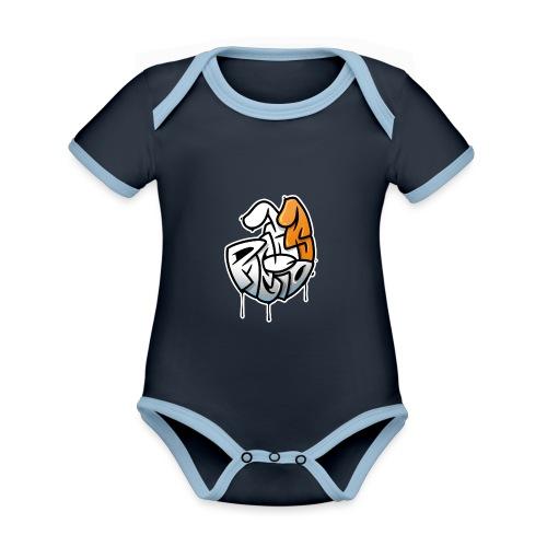 PRL DOG - Ekologiczne body niemowlęce z krótkim rękawem i kontrastowymi lamówkami