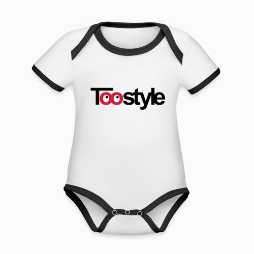 toostyle - Body da neonato a manica corta, ecologico e in contrasto cromatico