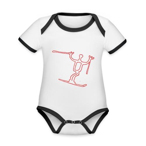 RVM longski white - Ekologisk kontrastfärgad kortärmad babybody
