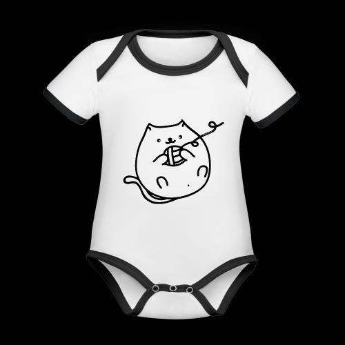 classic fat cat - Baby Bio-Kurzarm-Kontrastbody
