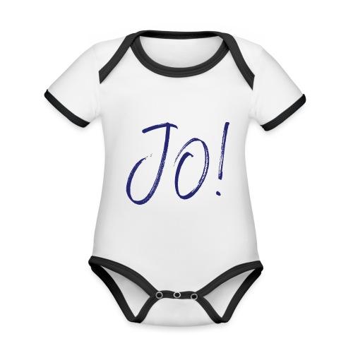 JO! - Baby Bio-Kurzarm-Kontrastbody
