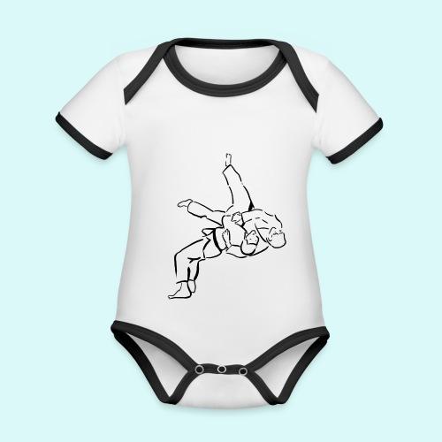 judo - Body Bébé bio contrasté manches courtes