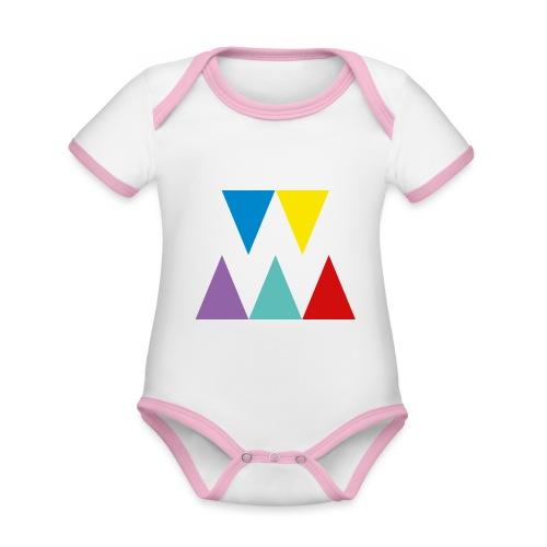 Logo We are les filles - Body Bébé bio contrasté manches courtes