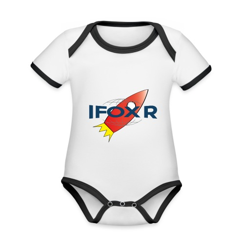 IFOX ROCKET - Ekologisk kontrastfärgad kortärmad babybody