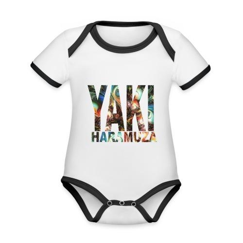 YAKI HARAMUZA BASIC HERR - Ekologisk kontrastfärgad kortärmad babybody