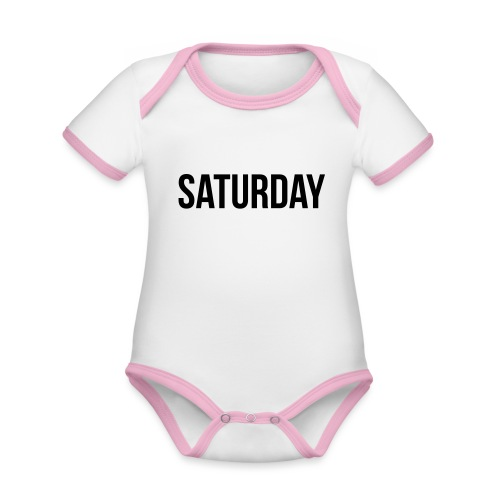 Saturday - Organic Baby Contrasting Bodysuit
