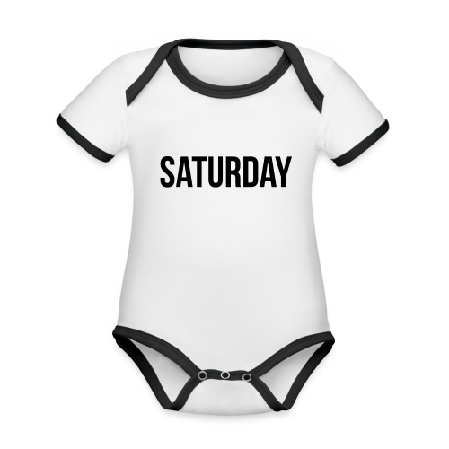 Saturday - Organic Baby Contrasting Bodysuit