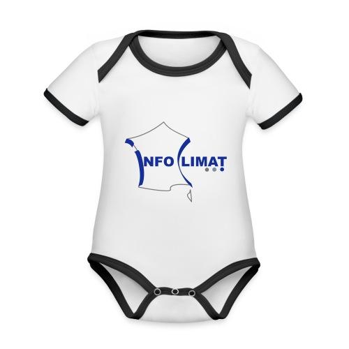 logo simplifié - Body Bébé bio contrasté manches courtes