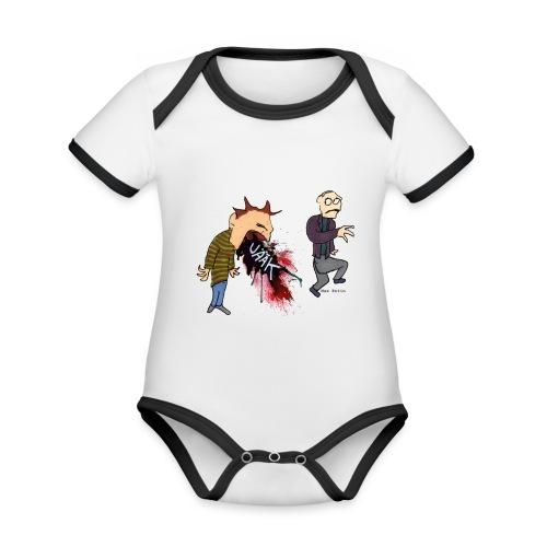 Kräkning - Ekologisk kontrastfärgad kortärmad babybody