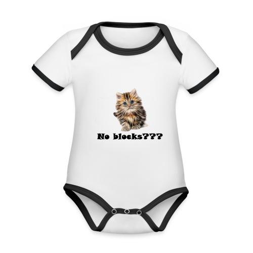 No block kitten - Økologisk kortermet kontrast-babybody