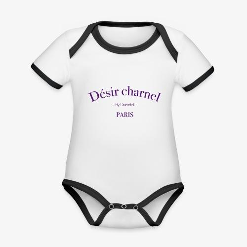 Désir charnel - Body Bébé bio contrasté manches courtes