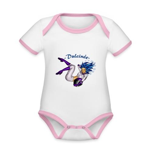 Dulcinée - Body Bébé bio contrasté manches courtes