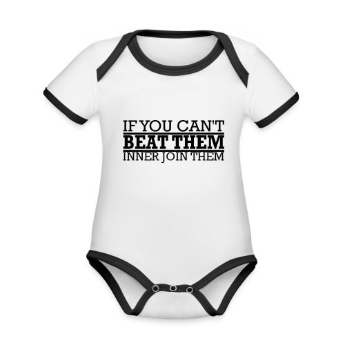 If You can't beat them, inner join them - Ekologisk kontrastfärgad kortärmad babybody