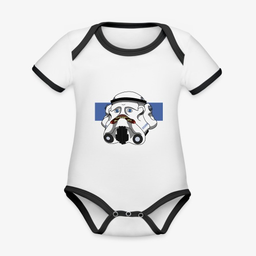 The Look of Concern - Organic Baby Contrasting Bodysuit