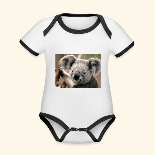 Koala - Baby Bio-Kurzarm-Kontrastbody