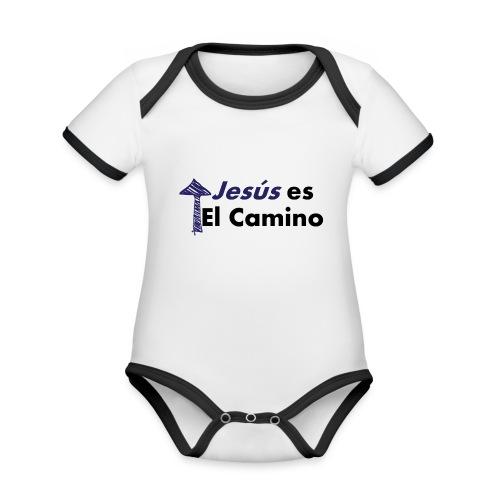 jesus el camino - Body contraste para bebé de tejido orgánico