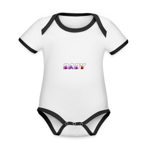 logo baby fille - Body Bébé bio contrasté manches courtes