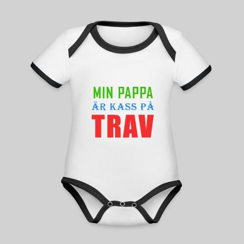 pappakasspatrav - Ekologisk kontrastfärgad kortärmad babybody