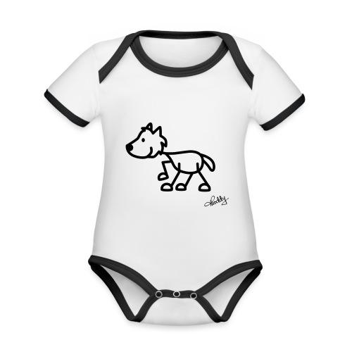 wolf - Baby Bio-Kurzarm-Kontrastbody