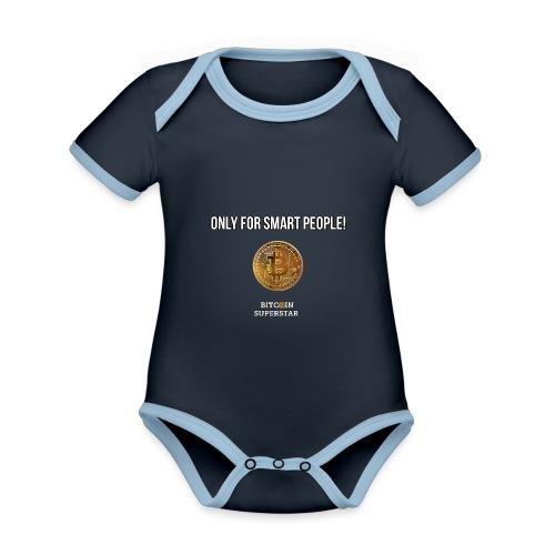 Only for smart people - Body da neonato a manica corta, ecologico e in contrasto cromatico