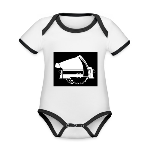 saw - Organic Baby Contrasting Bodysuit