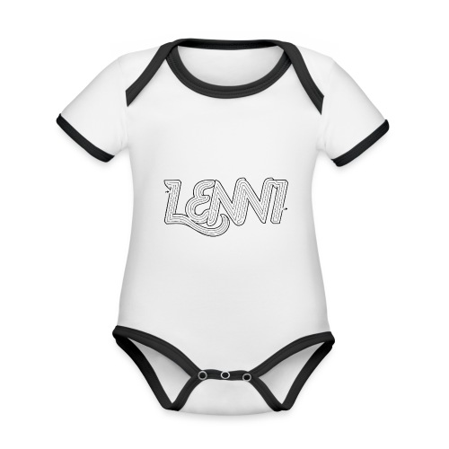 Lenni transparent - Vauvan kontrastivärinen, lyhythihainen luomu-body