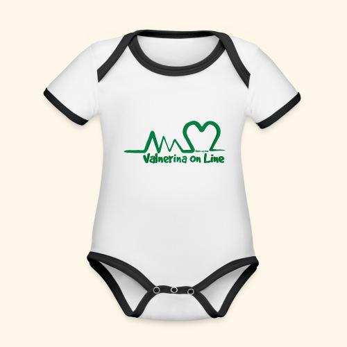 logo verde Associazione Valnerina On line - Body da neonato a manica corta, ecologico e in contrasto cromatico