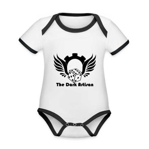 Black logo - Organic Baby Contrasting Bodysuit