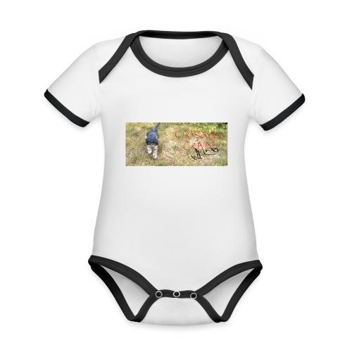 catssin's craat - Ekologiczne body niemowlęce z krótkim rękawem i kontrastowymi lamówkami
