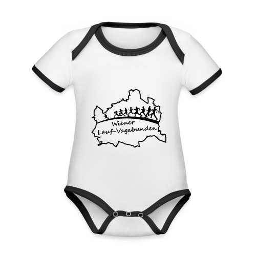 Laufvagabunden T Shirt - Baby Bio-Kurzarm-Kontrastbody